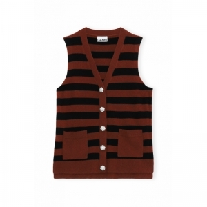 Vest - Striped logo