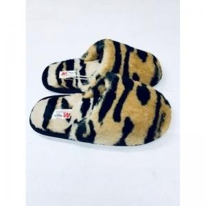 fur slippers logo