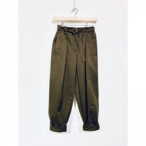 TWILL UTILITY BELTED PANT logo