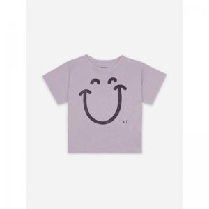Big Smile Lilas Short Sleeve T logo