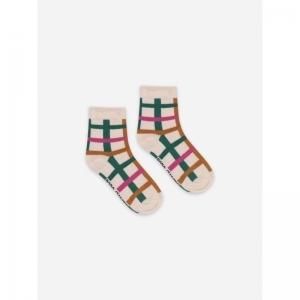 Green Checkered Short Socks logo