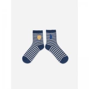 Blue Stripes Short Socks logo