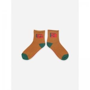 Brown BC Short Socks logo