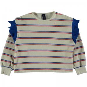 Sweatshirt frill bistripe logo