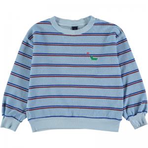 Sweatshirt terry bistripe logo