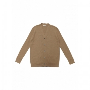 POOR BOY RIBBED CARDIGAN logo