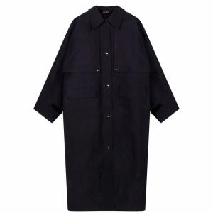Coat Cape Long Wax 0059 INDIGO