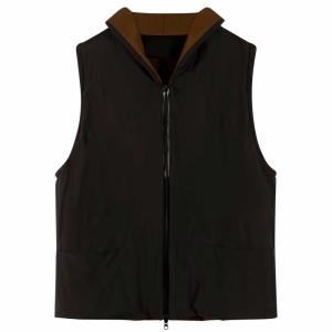 Coat V Neck Vest Tec Nylon 0001 BLACK