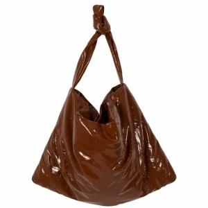 Bag Square Medium Leather Lacq logo