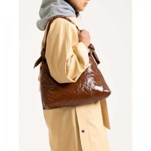 Bag Lady Leather Lacquer 0012 COGNAC