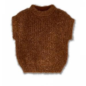 sleeveless c-neck logo