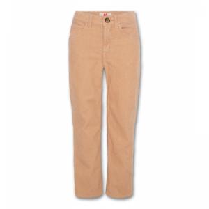 flora cord pants logo