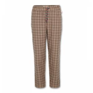 cotton tweed pants logo