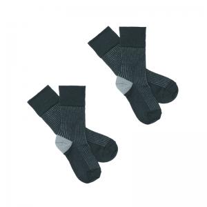 2 pack Contrast Rib Sock logo